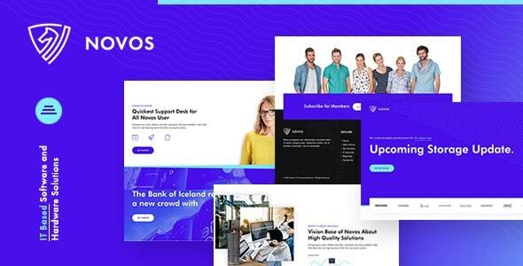Novos  IT Company and Digital Solutions Joomla Template TFx