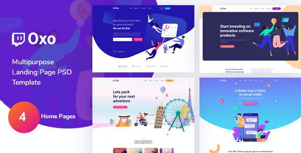 OXO - App Landing Page PSD Template TFx