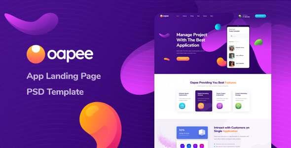 Oapee - SEO App Landing Page PSD Template TFx