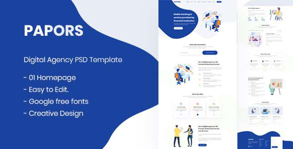 Papors- Digital Agency PSD Template TFx