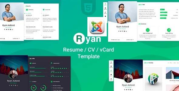 Ryan - CV Resume Joomla Template TFx Joomla