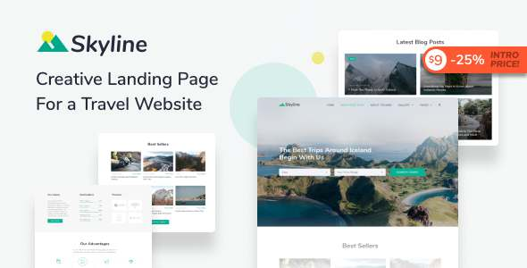 Skyline - Travel Agency HTML Landing Page Template TFx