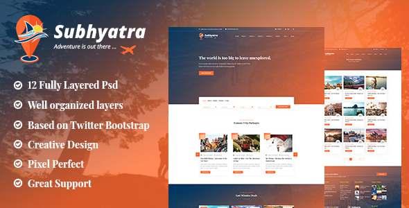 Subhyatra - Travel Agency PSD Template TFx