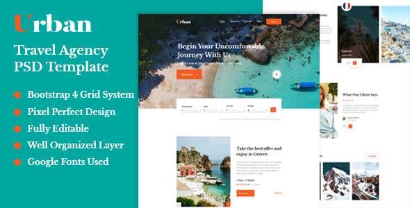 Urban - Travel Agency PSD Template TFx PSDTemplates