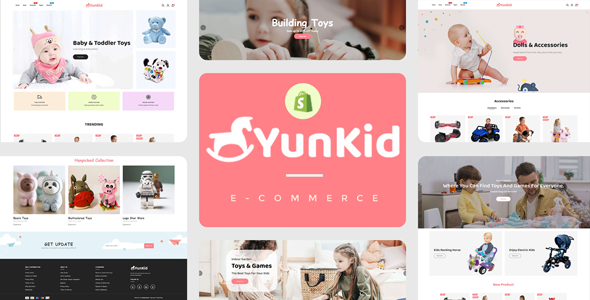 Yunkid - Kids Toys Store Responsive Shopify Theme TFx