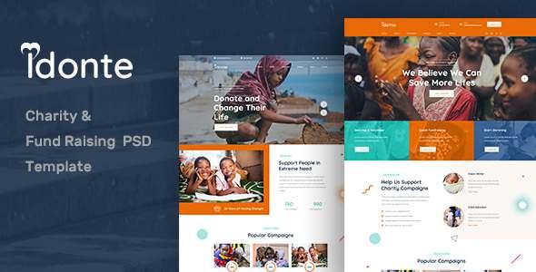 idonte Charity NonProfit PSD Template TFx