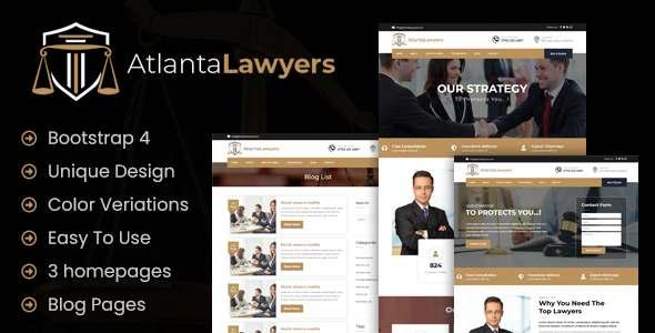 Atlanta Lawyers  Responsive Landing HTML Template TFx