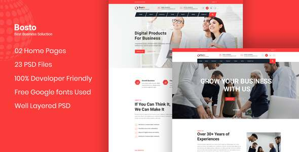 Bosto - Business Consulting PSD Template TFx