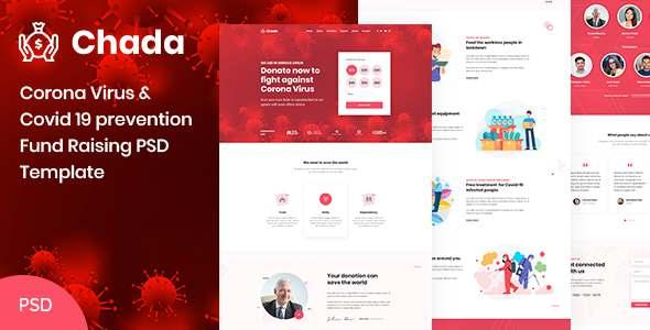 Chada  Corona Virus Prevention Fund Raising PSD Template TFx