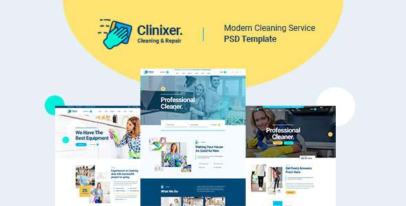Clinixer - Cleaning Services PSD Template TFx