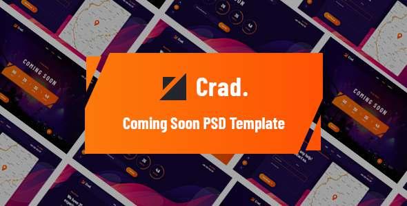 Crad - Coming Soon PSD Template TFx PSDTemplates