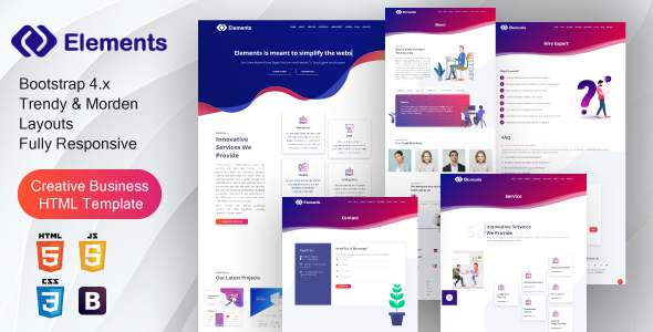 Creative Bootstrap 4 IT Solutions amp Digital Services Template TFx