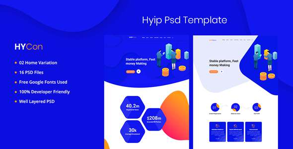 Hycon - HYIP Investment PSD Template TFx