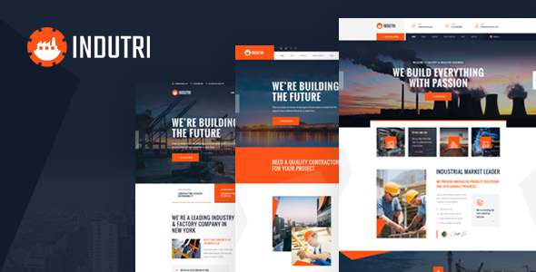 Indutri - PSD Template For Industry amp Factory Business TFx