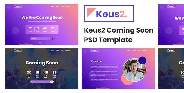 Keus - Coming Soon PSD Template TFx PSDTemplates
