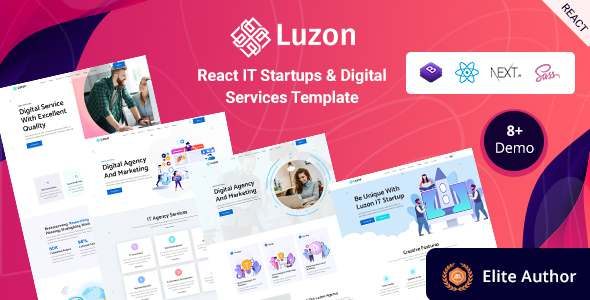 Luzon – React Next IT Business amp Startup Template TFx