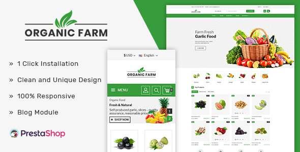 Organic Farm amp Vegetable Prestashop Theme TFx