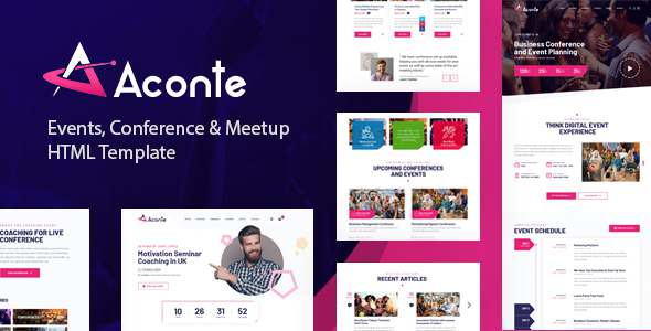 Aconte – Events Conference and Meetup HTML Template TFx