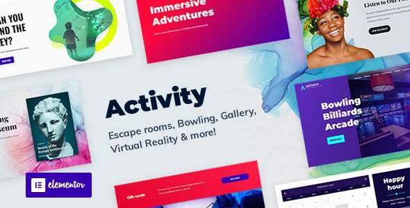 Activity - Booking WordPress Theme TFx WordPress
