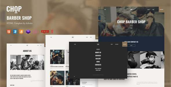 Chop – Barber Shop HTML Template TFx SiteTemplates