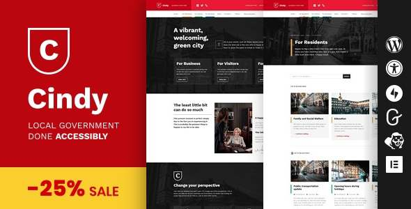 Cindy - Accessible Local Government WordPress Theme TFx