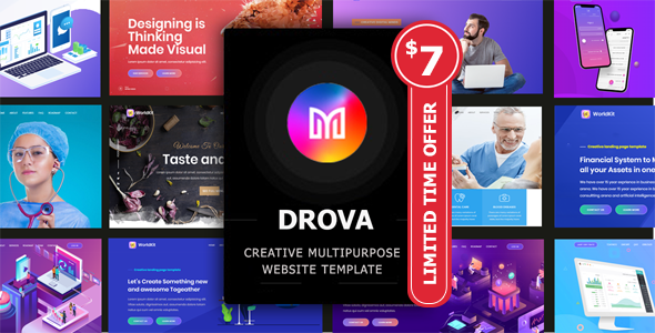 Drova - Creative Multipurpose Onepage Template TFx