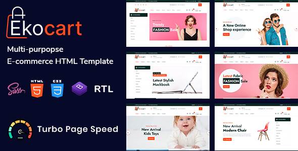 Ekocart - Multi-purpose E-commerce HTML5 Template TFx