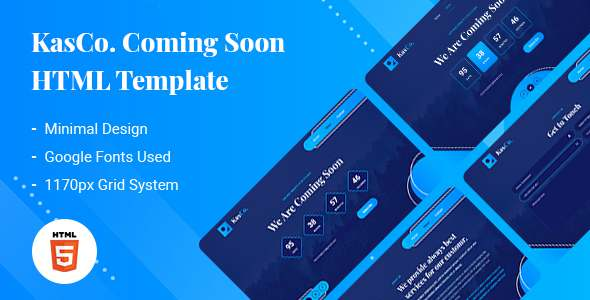 KasCo - Creative Coming Soon HTML5 Template TFx