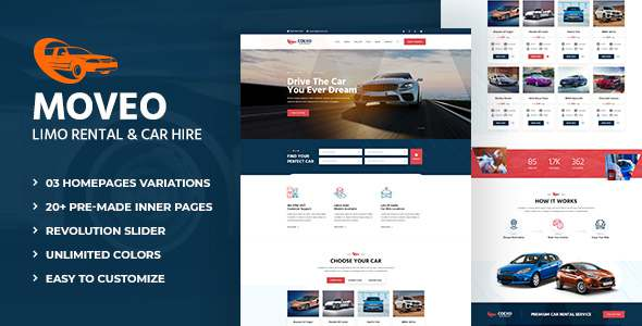 Moveo Party Buses Limo Rental and Car Hire HTML Template TFx
