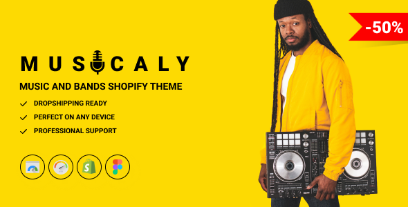 Musicaly - Shopify Music Shop Theme - Music Band amp School TFx