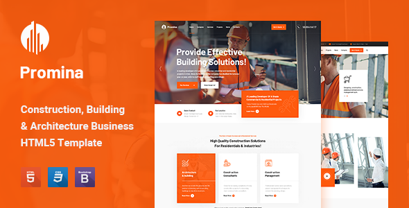 Promina – Construction and Building HTML5 Template TFx