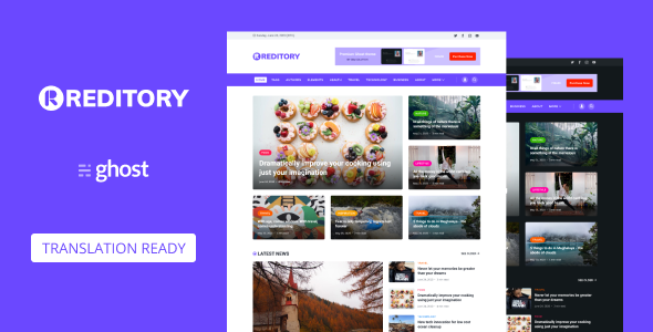 Reditory - News and Magazine Style Ghost Blog Theme TFx