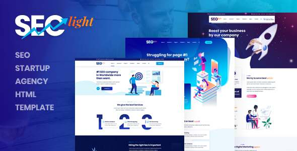 Seclight - Seo Startup Agency HTML Template TFx