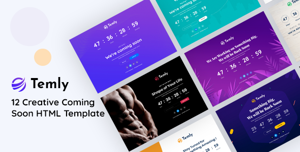 Temly  Creative Coming Soon HTML Template TFx