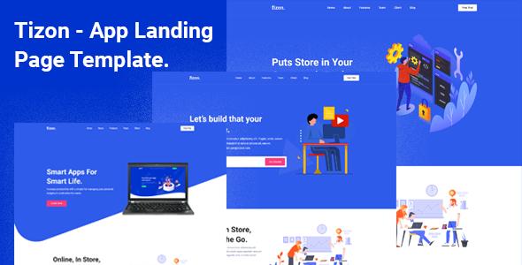 Tizon – App Landing Page Template TFx SiteTemplates