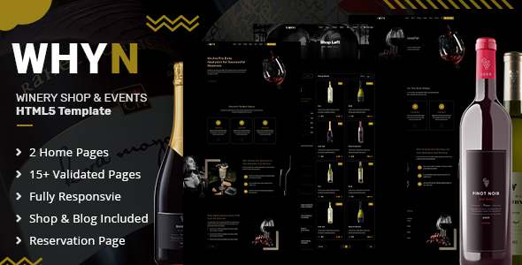 WHYN  Wine Tasting amp Events HTML Template TFx