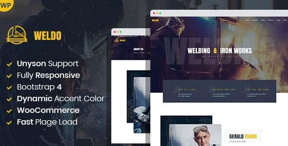 Weldo – Metal Works WordPress Theme TFx