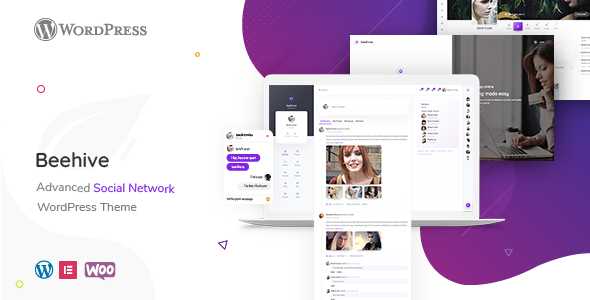 Beehive – Social Network WordPress Theme TFx