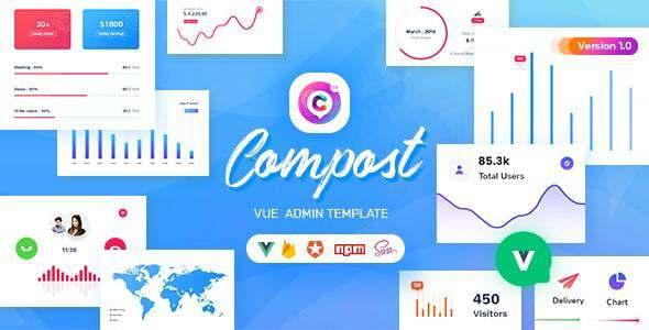 Compost Vue - Vuejs Admin Template TFx SiteTemplates