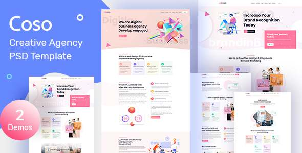 Coso  Creative Agency PSD Template TFx