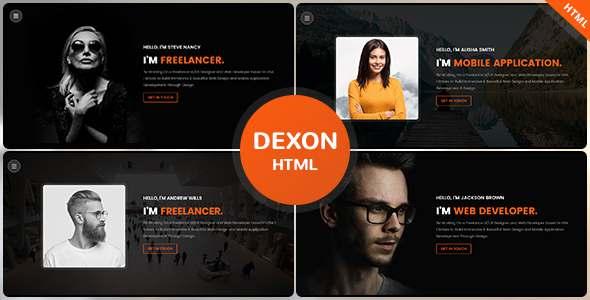 Dexon – Personal Portfolio HTML Template TFx