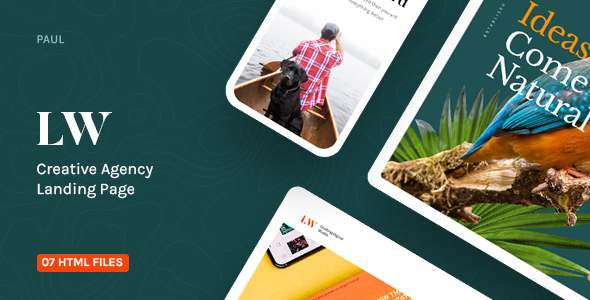 Lewis - Creative Agency Landing Page TFx