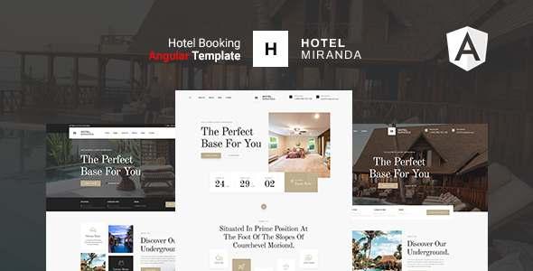 Miranda Hotel  Angular Template TFx SiteTemplates