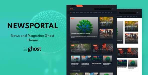 Newsportal - News and Magazine Ghost Blog Theme TFx