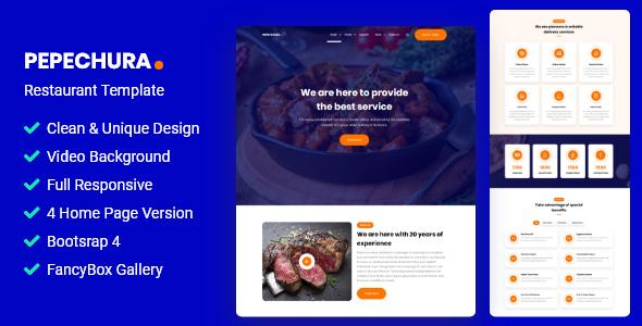 Pepechura – Restaurant Template TFx SiteTemplates