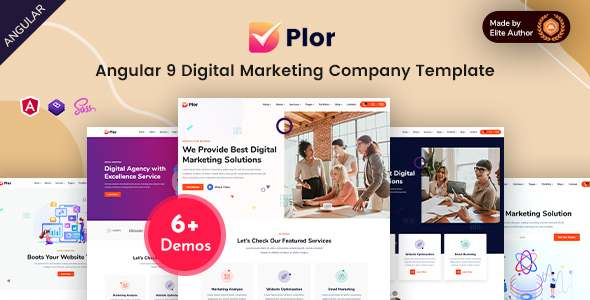 Plor - Angular 9 SEO amp Marketing Agency Template TFx