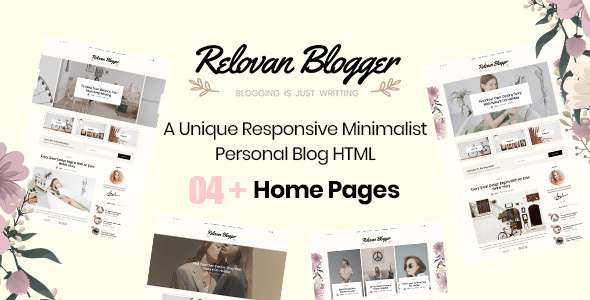Relovan – Personal Blog HTML5 Template TFx