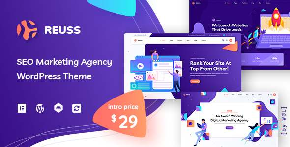 Reuss – SEO Marketing Agency WordPress Theme TFx