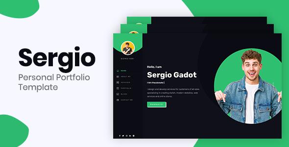 Sergio  Bootstrap 4 Personal Portfolio TFx