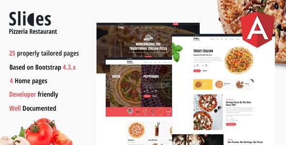 Slices – Pizzeria Restaurant Angular Template TFx